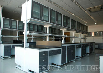 Upper Cabinet Units Science Lab Furniture , Floor Type Laboratory Benches And Cabinets